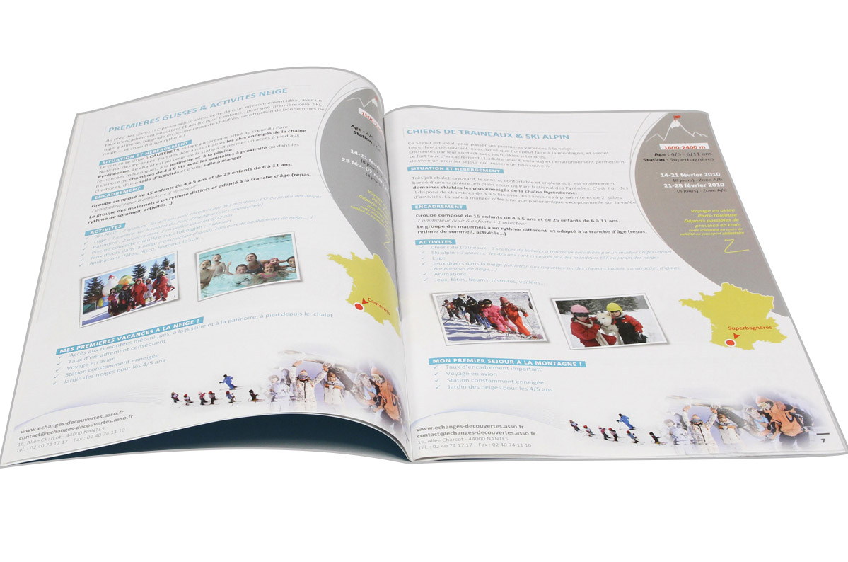 Impression brochure 210x297, format 210x297 (a4) 300g couché ... on