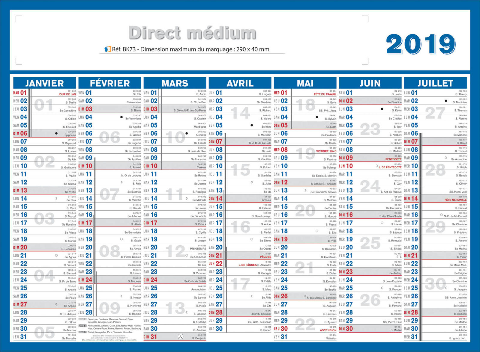 Calendrier Personnalise Entreprise.Impression Medium Direct Medium Direct Kelprint