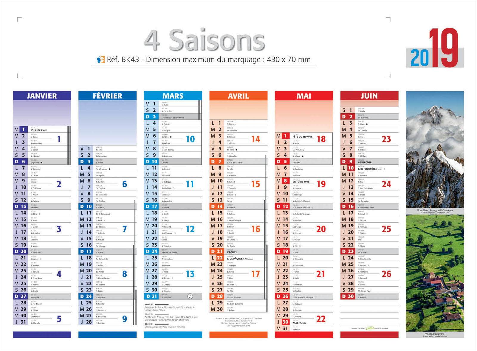 Impression les 4 saisons les 4 saisons kelprint for Calendrier photo mural gratuit