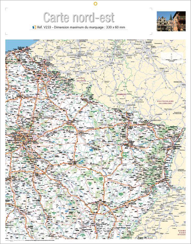 carte nord est france Impression map nord est, map nord est rembordage  KelPrint