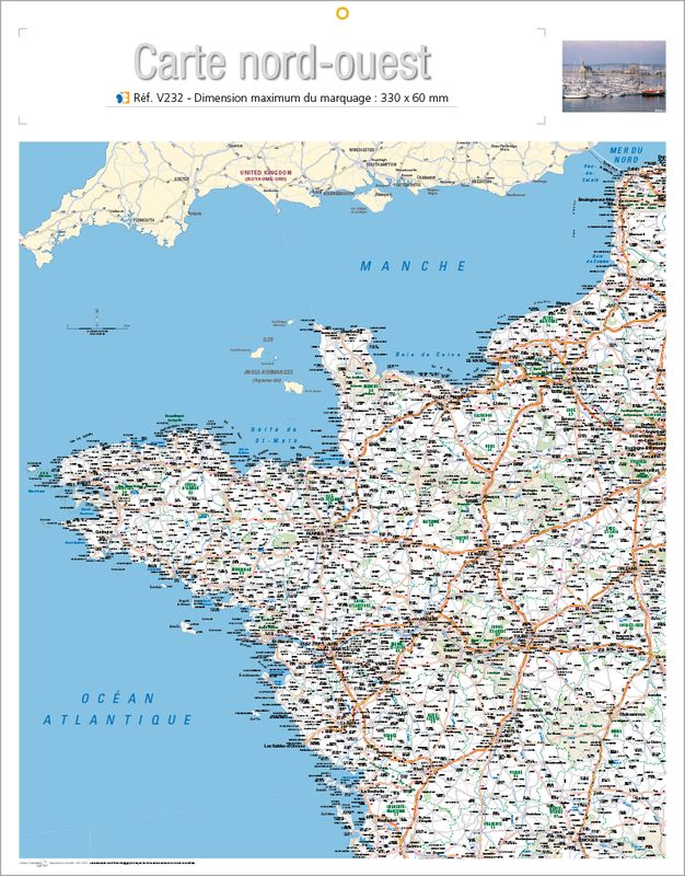 Impression map nord ouest, map nord ouest - KelPrint - Imprimerie map nord ouest