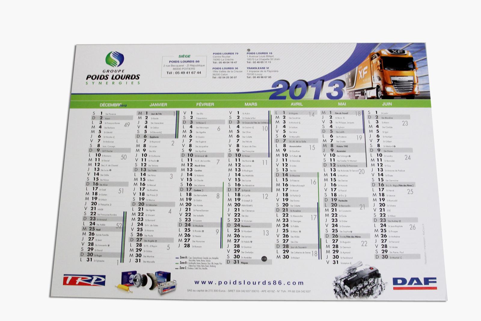 Calendrier Bancaire Personnalise.Impression Calendrier Bancaire 210x297 Format Bancaire