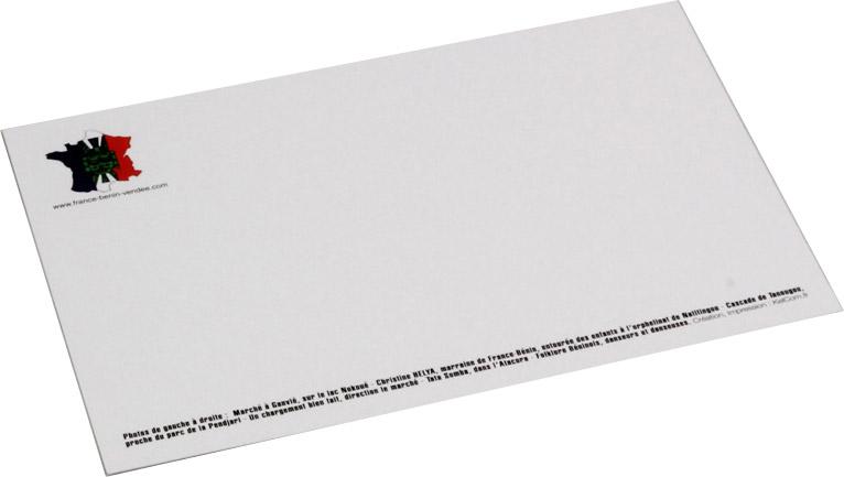 Carte Correspondance 82x128 250g Bristol Blanc