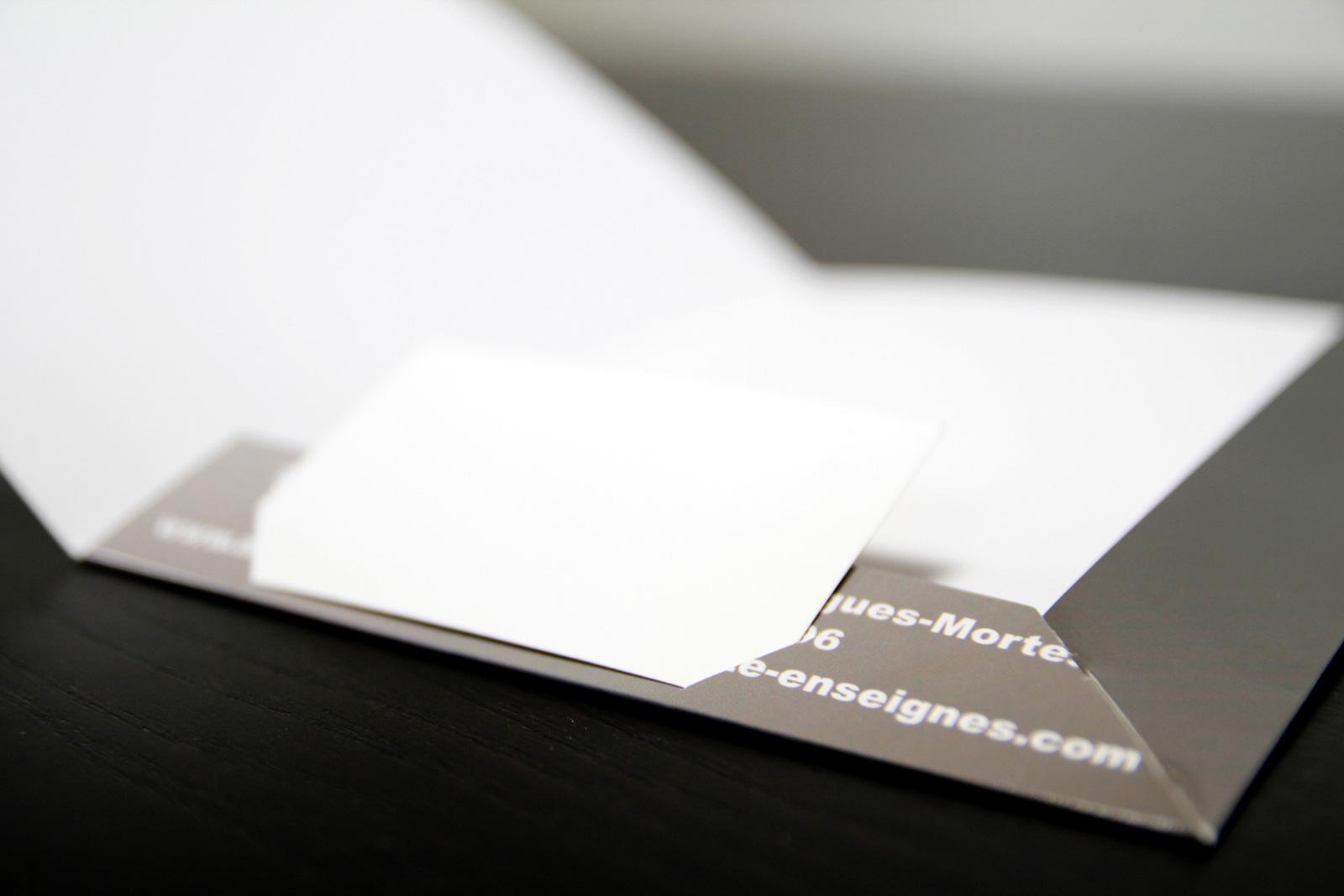 Chemise A4 3 Volets Encoche Carte De Visite